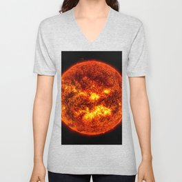 The Surface of The Sun - Burning Star Unisex V-Neck