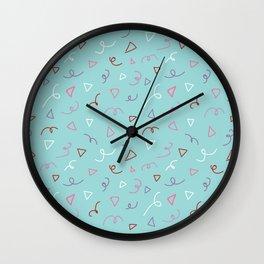 Twirls and Triangles Wall Clock