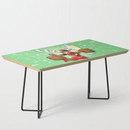 Reindeer Drunk Funny Christmas Character Coffee Table