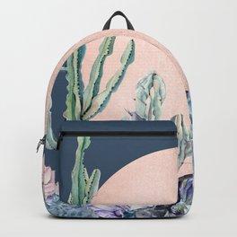Desert Sun + Gemstones Bronze Navy Teal Backpack