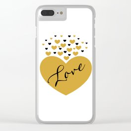 Love is Gold Clear iPhone Case