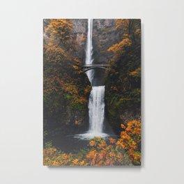 Fall at Multnomah Falls Metal Print