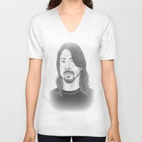 dave grohl V-neck T-shirts featuring Dave Grohl , Portrait Art by N_T_STEELART