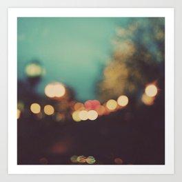 City Lights at Night Art Print