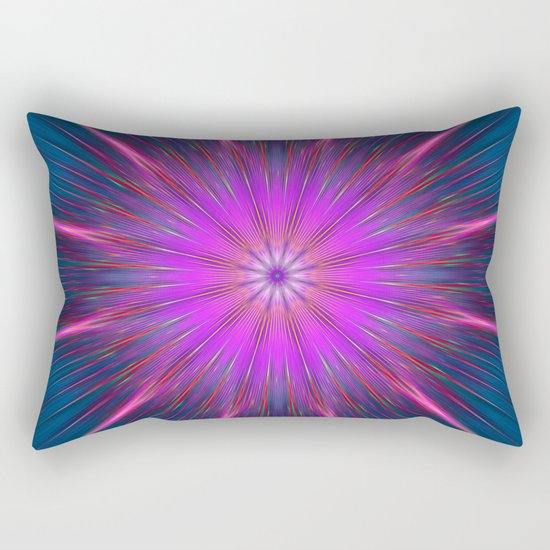 Artistic bright shining abstract star Rectangular Pillow
