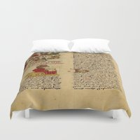 christ Duvet Covers featuring Jesus Christ Manuscript 1 by Limitless Design