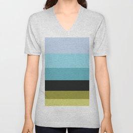 Cactus Colorful Stripes Colour Block Stripes Unisex V-Neck