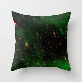 Nebula California, An Emerld Delight Throw Pillow