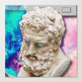 Vaporwave Socrates Aesthetics Canvas Print