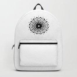 Original Mandala- black and white hand drawn with ink Backpack