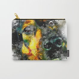 dog 2 splatter watercolor Carry-All Pouch