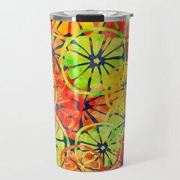 Summer Lemons, Colorful Pattern Travel Mug