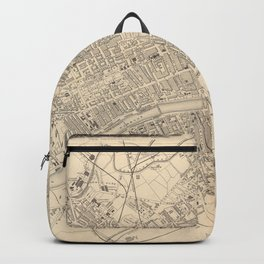Vintage Map of Glasgow Scotland (1851) Backpack