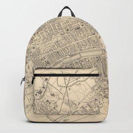 Vintage Map of Glasgow Scotland (1851) Backpack
