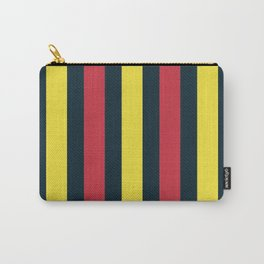 Modern Decorative Yellow Red Vertical Pattern Stripes Carry-All Pouch