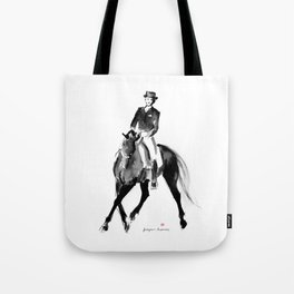 Horse (Dressage / half pass) Tote Bag