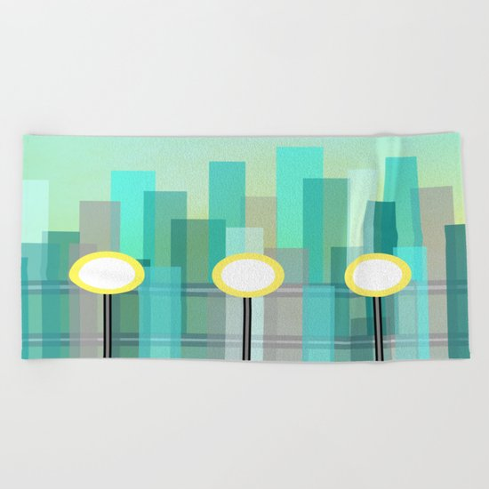 Downtown Beach Towel