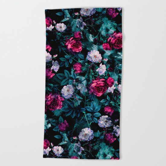 RPE FLORAL ABSTRACT III Beach Towel