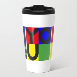 LOVE YOU ! - horizontal Travel Mug