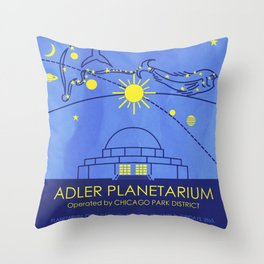 Adler Planetarium (Chicago) Throw Pillow