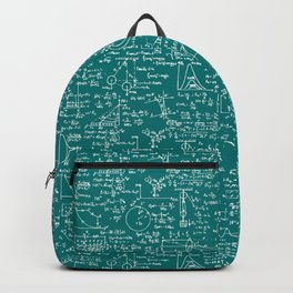 Physics Equations // Teal Backpack