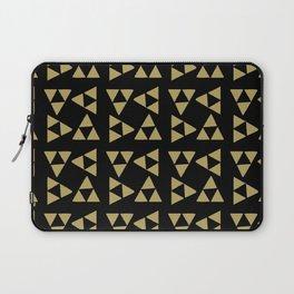 Print 127 - the legend of Zelda Triforce - Black Laptop Sleeve