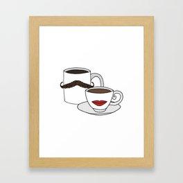 The Caffeinated Couple Framed Art Print