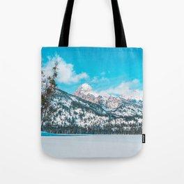 Taggart Lake Winter, Grand Teton National Park Tote Bag