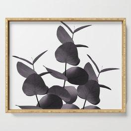 Eucalyptus Leaves Black White #1 #foliage #decor #art #society6 Serving Tray