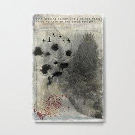 Cold Winter - Dark Art Print Collage Metal Print