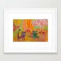 kittens Framed Art Prints featuring kittens by Bunny Noir