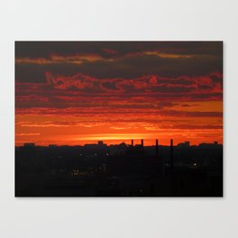 Sunset/Cityscape 3 Canvas Print