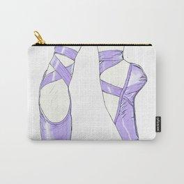 Ballet Pumps: Purple Carry-All Pouch
