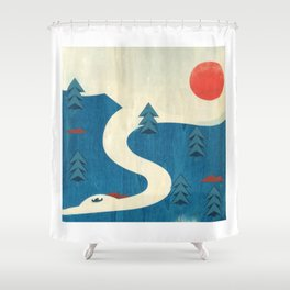 Qu'Appelle River Shower Curtain
