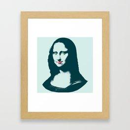 Pop Art Mona Lisa or La Gioconda Framed Art Print