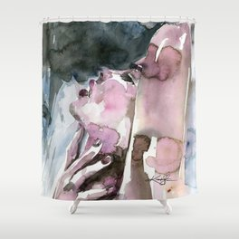 A Sensual Moment Shower Curtain