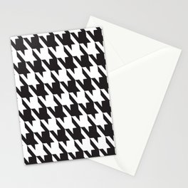 Pattern Play: Herringbone Black and White Stationery Cards