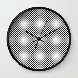 Pirate Black Polka Dots Wall Clock