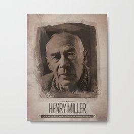 Henry Miller Metal Print