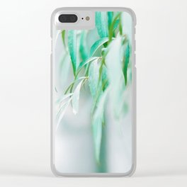 Gentle Greens (Color) Clear iPhone Case