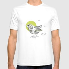 Bush Wren Xenicus Longipes MEDIUM Mens Fitted Tee White