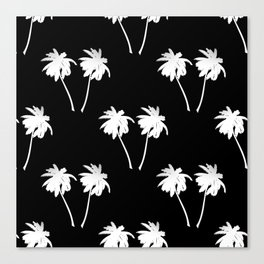 Palm Trees Tropical Night Canvas Print