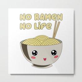 Ramen Bowl Japanese Noodles Soy Miso Noodle Soup Metal Print