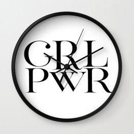 GIRL POWER SIGN, Grl Pwr Print,Girls Room Decor,Feminism Art,Feminist Print,Girly Svg,Modern Art,Tee Wall Clock