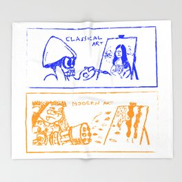 Classical or modern art (Splatoon) Throw Blanket