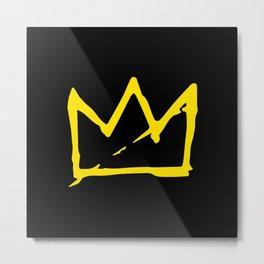 Basquiat crown Metal Print