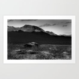 Death Valley Shack Art Print