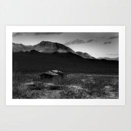 Death Valley Shack Art Print