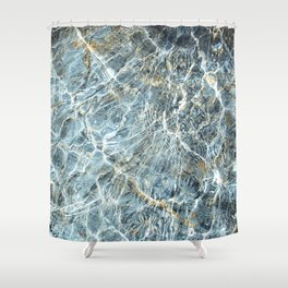 Blue Water Waves Shower Curtain