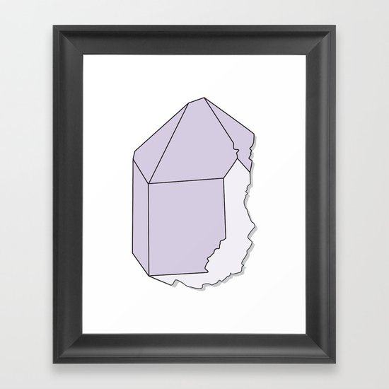 Amethyst Quartz Framed Art Print